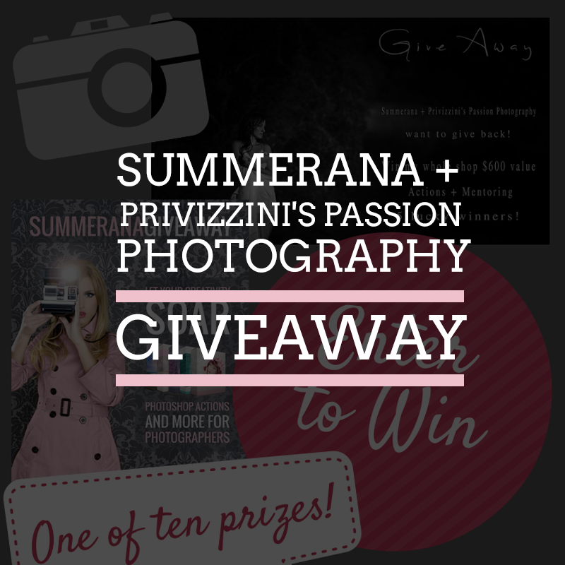 Summerana + Privizzini's Passion Photography Giveaway