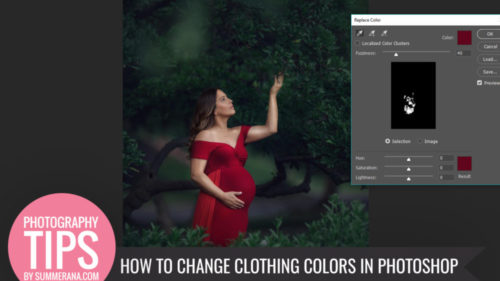 how to change 1 color in photoshop