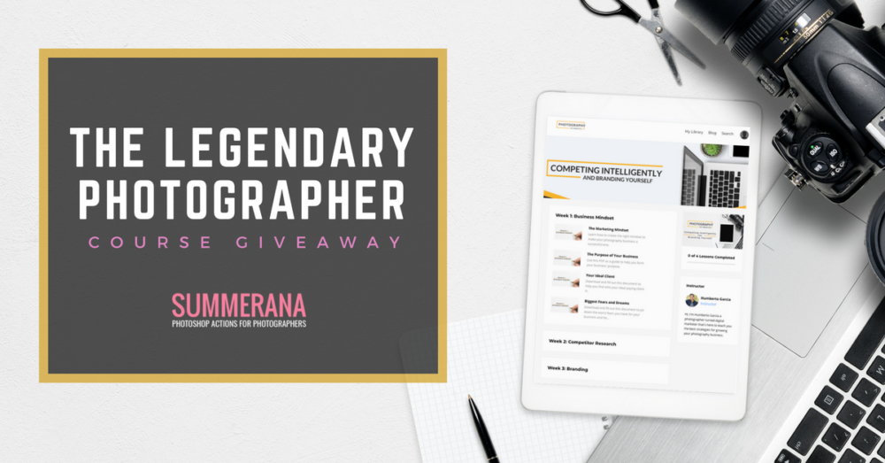 The legendary Photographer SUMMERANA Giveaway