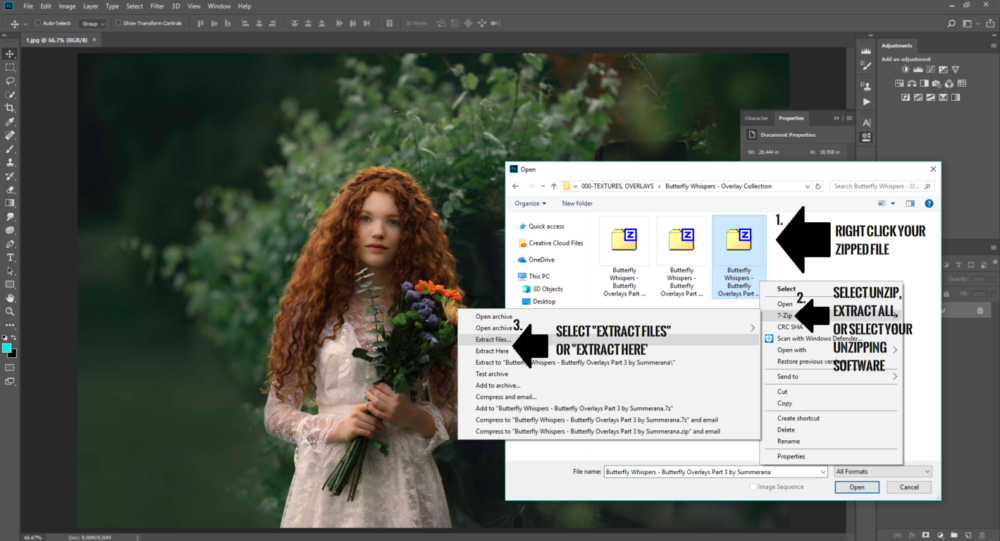 How to Unzip your Photoshop and Lightroom Files - Summerana